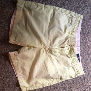 NEON YELLOW dyed VV shorts